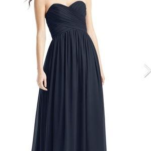 Azazie bridesmaid dress size 2, Kristen, dark navy